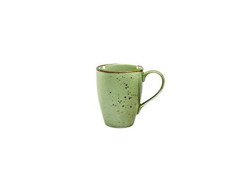 Creatable, 6-er Kaffeebecher 30 cl, Nature Collection, GREEN 22053, Steinzeug