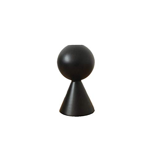 YBYB Candle Holder Black Wooden Candle Holder for Wedding Candlestick Candlelight Dinner Decorative Home Decor Ornament Wedding Table Ornament Candlestick (Color : Black, Size : A)