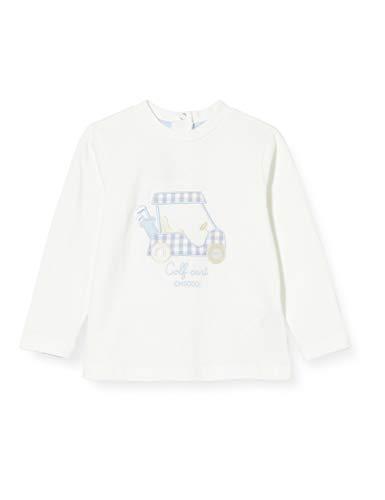 Chicco T-Shirt Bimbo A Manica Lunga Camiseta de Tirantes, Blanco (Bianco 030), 86 (Talla del Fabricante: 086) para Bebés