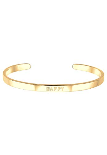 Elli Armband Damen HAPPY Wording Schriftzug Trend in 925 Sterling Silber