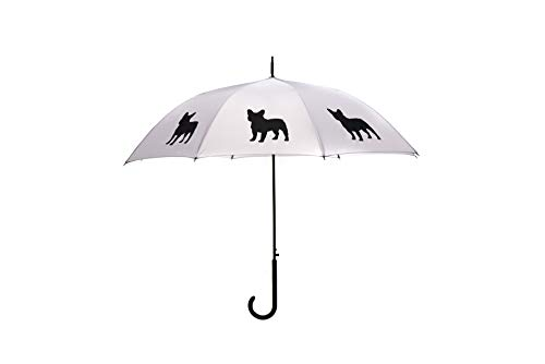 The San Francisco Umbrella Company Unisex-Adult (Luggage only) French Bulldog, Silver/Black