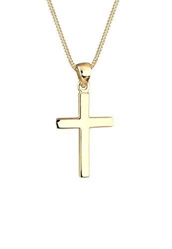 Elli Halskette Damen Kreuz Symbol Basic Religion in 925 Sterling Silber
