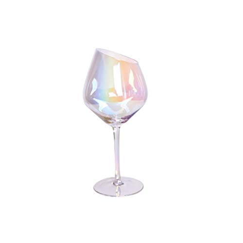 Copas De Vino Distinguido Arte 200-600ml Oblique CUT CUT CUBIERDO FAMILIA BARRIL DE LA FAMILIA Color Smoky Gray Amber Red Wine Cup Champagne Wine Webware Copas De Vino Tinto ( Color : Multicolor )