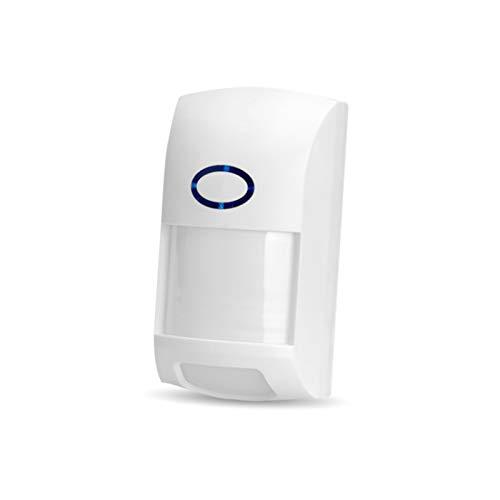 Sensor de movimiento inteligente, WiFi inalámbrica, sensor de movimiento, alarma ultra ancha 110°, detección de detección de 12 metros, compatible con la aplicación Tuya/Smart Life