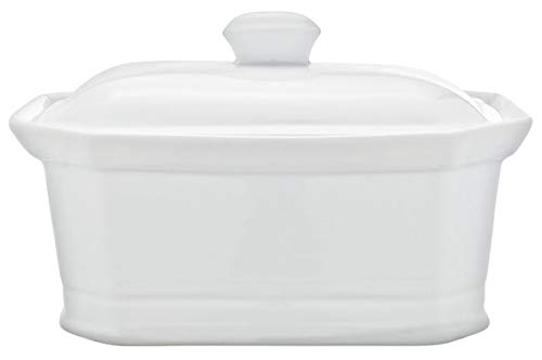 Cosy & Trendy rh46635Terrine Pate mit Deckel, Keramik, weiß, 20x 14,5x 8,5cm