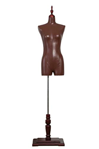 USAKHV Female Dress Form Mannequin 80F-7-PU Body Model with Base