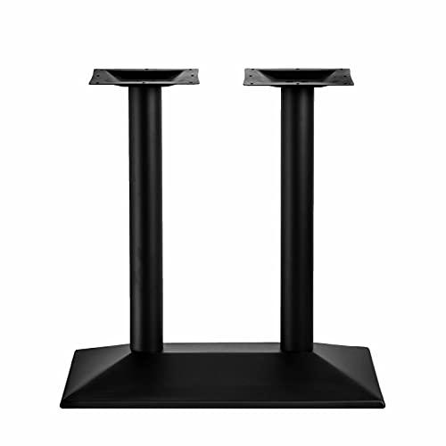 Patas dobles para mesa de 72 cm, con revestimiento de polvo, color negro, para encimeras de cocina, mesa de restaurante