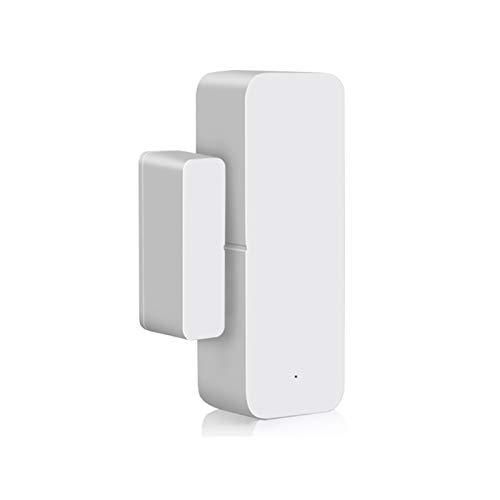 LOOCOO Tuya Zigbee Wifi Sensor de Puerta de Ventana Inteligente Alarma de Puerta Y Ventana Detector Tuya App Sistema de Alarma de Seguridad para El Hogar Inteligente Adecuado para El