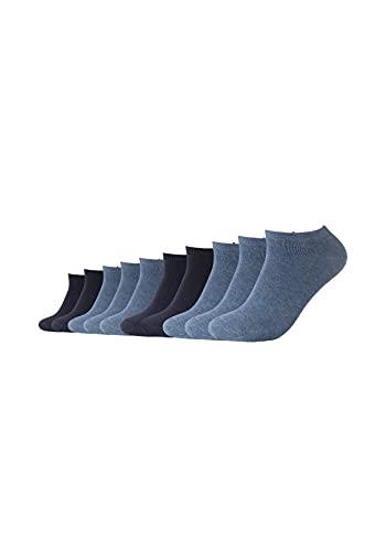 Camano Unisex Sneaker Socken Damen und Herren (10x Paar) Classics mit Baumwolle blau 39-42
