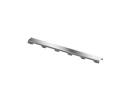 Tec 601082 Drainline designrooster (nominale lengte: 100 cm; gepolijst; roestvrij staal; testbelasting ca. 300 kg) zilver