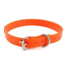 FilANimal - Collar De Mascota para Perros, Gatos.Tamaño Grande Apto para Todos los tamaños, Puede Recortar y Ajustar. Biothane TPU con Inserciones de Nylon Super Resistentes. (Naranja (1.8x71cm))