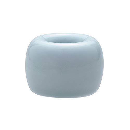 無印良品 磁器歯ブラシスタンド・1本用 ブルー・直径4×高さ3cm×3 日本製