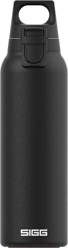 SIGG Hot & Cold ONE Light Black Botella térmica (0.55 L), termo hermético sin sustancias nocivas, cantimplora térmica de acero inoxidable 18/8 para uso con una mano
