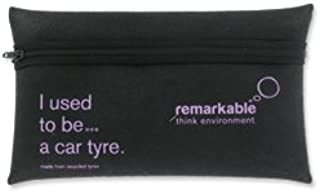 Remarkable Recycled Tyre Pencil Case - Black/Purple