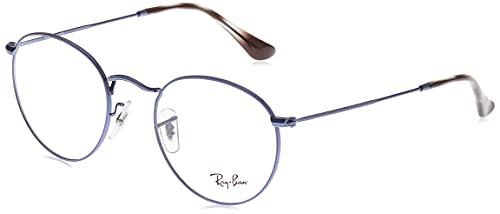 Ray-Ban Round Metal Gafas, Sand Transparent BLU, 47 Unisex