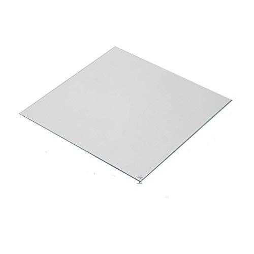 Wisamic Calore trasparente in vetro borosilicato 200x200x3mm per stampanti 3D Prusa, Monoprice Maker Select V2, Monoprice Maker Select Plus, ecc.