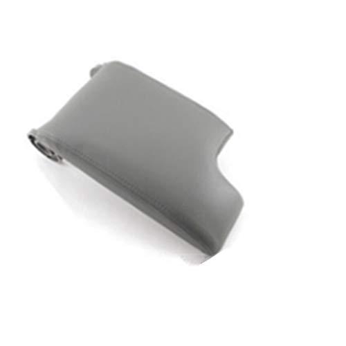 Story CUBIERTE DE Cuero DE Cuero ARMARTE Consola Tapa DE Arma DE Arma DE Arma Cubierta Capa para BMW 3 Series E46 99-04 Auto Accesorios Interior (Color : Gray)