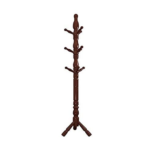 STAND CHEAD RACK Abrigo de madera Rack de la capa de pie libre de la capa de pie con 9 ganchos fáciles de ensamblar la capa moderna de las chaquetas de la capa de pie para el dormitorio Entrada de la