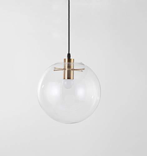 Lámpara Colgante Bola de Cristal - Iluminacion de Techo Moderna Dormitorio Salón Araña Transparente Interior(Oro/200MM)