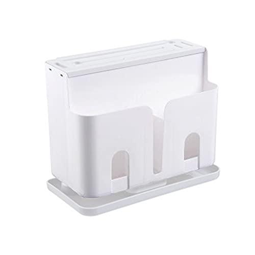 Baishi Multifuncional cortador titular hogar drenaje suministros de cocina estante vajilla cubiertos palillo almacenamiento