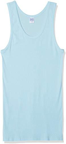 Abanderado Clásico Sport canalé Camiseta de Tirantes, Azul (Celeste 009), One Size (Tamaño del Fabricante:XXL/60) para Hombre