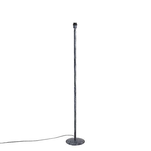 QAZQA Modern Vintage vloerlamp grijs zonder kap - Simplo Metaal Langwerpig Geschikt voor LED Max. 1 x 60 Watt