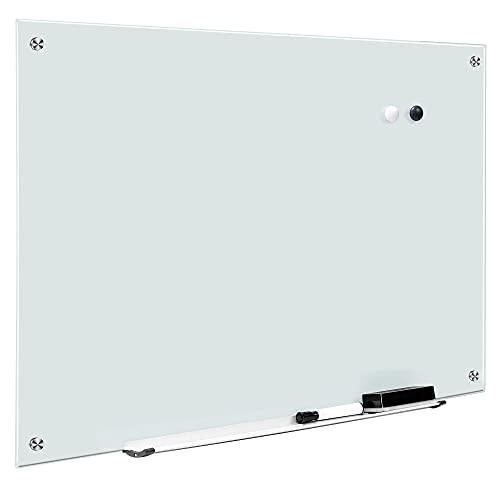 Amazon Basics - Pizarra de borrado en seco, cristal, magnética, 61 x 91,4 cm, color blanco