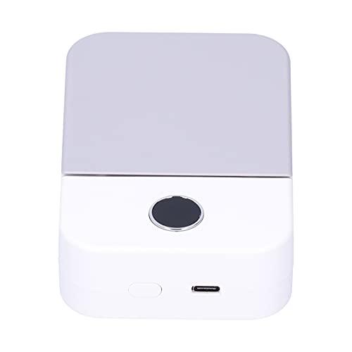Eosnow Ventilador eléctrico, diseño de Pantalla LED Ventilador de Pantalla LED pequeño y portátil Soplado de área Grande para el hogar al Aire Libre(Blanco)