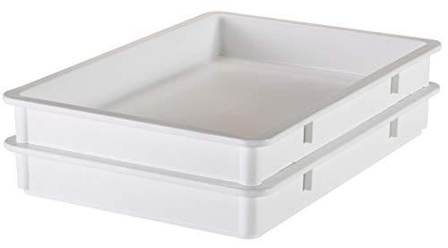 Cambro DB18263P148 White 18' x 26' x 3' Pizza Dough Box