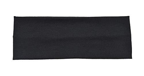 Stirnband, stretchig, 7 cm breit, verfügbar in 2 Farben, Schwarz und Weiß, ideal zum Haar wegbinden während des Abschminkens / Schminkens