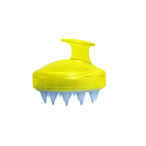 1pc Cómodo Spa Adelgazante e Cepillo de silicona Champú Cuero cabelludo e Cepillo para lavar el cabello Cepillo de ducha para baño - China, Amarillo