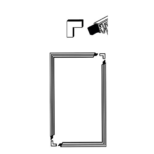 DL-pro Junta de goma universal para puerta, 1300 x 700 mm, para atornillar en nevera y congelador (sin adhesivo)