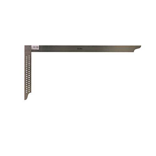 HaWe Zimmermannswinkel mit Anreißlöcher 800 mm aus NIROSTA-Stahl, Metalwinkel, Eisenwinkel, Stahlwinkel, Messwinkel, Anschlagwinkel m. Anreißlöchern