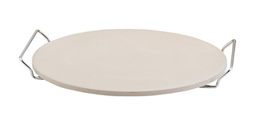 Fante's HIC Pizza Baking Stone with Serving Rack, Natural Ceramic Stoneware, 13'