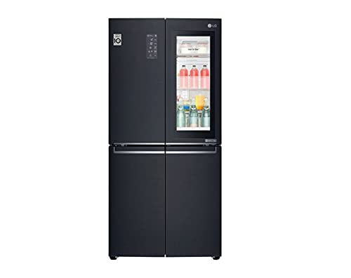 LG GMQ844MCKV Frigorifero Americano Multidoor Total No Frost con Congelatore, 530 L, Tecnologia InstaView, Door Cooling e Linear Cooling - Frigo Smart Multidoor con Wi-Fi e Display LED Esterno