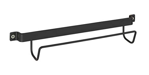 WENKO 50431100 Leiternhalter, Wand-Halterung für Leitern, lackiertes Metall, 33.5 x 6.5 x 7 cm, Schwarz