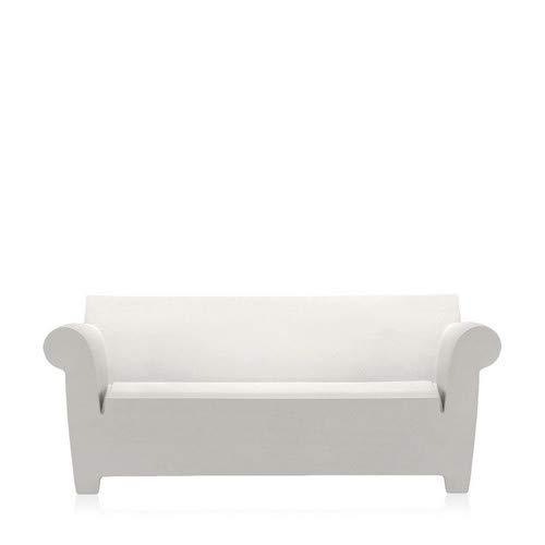 Kartell Bubble Club Sofa, Plastik, grau, 75 x 76 x 189 cm