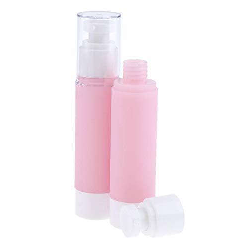 Bonheur 2PCS Vider Plastique Airless cosmétiques Maquillage Eau Parfum Vaporisateurs Rose - Rose + Blanc, 15ml (Size : 50ml)