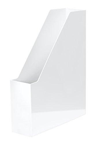 HAN Stehsammler i-Line 16501-12 in Weiß / Eleganter, moderner Stehsammler mit großem Volumen für Hefte, Zeitschriften & Mappen / Bis Format A4/C4