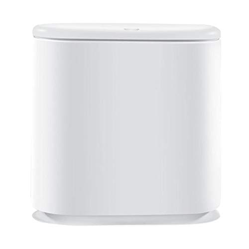 MagiDeal Cubo de basura rectangular de plástico de doble compartimento cubo de basura clasificado cubo de basura separación húmeda seca 10L