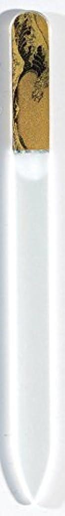 喉頭仮定するシェルター蒔絵 ブラジェク製 爪ヤスリ 波裏 特殊プリント加工 紀州漆器