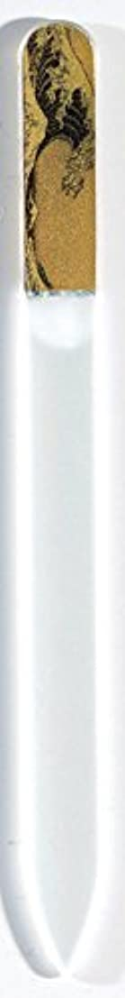 秀でるヒギンズ期限蒔絵 ブラジェク製 爪ヤスリ 波裏 特殊プリント加工 紀州漆器