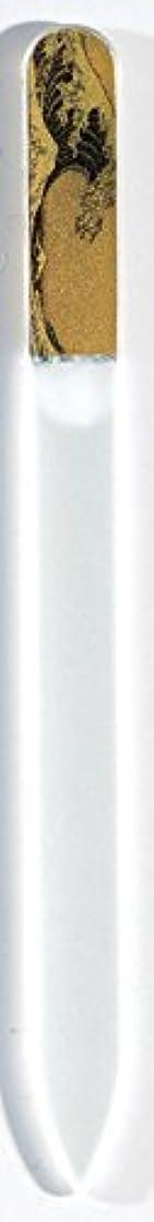 インセンティブ元に戻すご注意蒔絵 ブラジェク製 爪ヤスリ 波裏 特殊プリント加工 紀州漆器