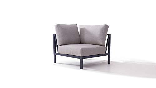 talfa Aluminium Lounge Modul in Anthrazit - Plaza Ecksofa 90 cm - anthrazit