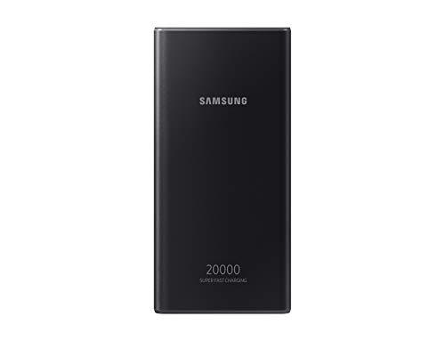 Samsung Powerbank 20 Ah, Akkukapazität 20.000 mAh, Schnellladen mit 25 Watt, schlankes Metall-Design, Triple-Port-Ladefähigkeit, LED-Anzeige, exklusiv auf Amazon, deutsche Version