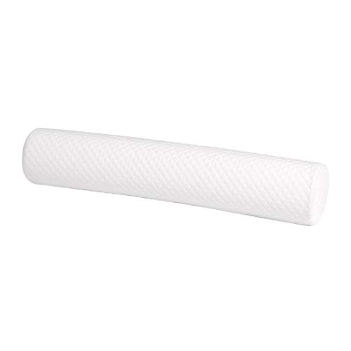uxcell Round Memory Foam Pillow Cervical Neck Bolster Head Back Support Pillow Lumbar Knee Bolster Leg Spacer for Side Sleepers - 23.6inches X 4.7inches / 60cm X 12cm White