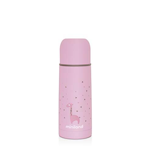 Miniland Isolierflasche 350ml für Babynahrung - SILKY THERMOS ROSE