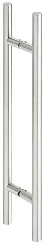 ALPENSTAHL Stangengriff Edelstahl Ziehgriff rund Stoßgriffe gerade - H10570 | 600 mm x 400 mm | Türbeschlag Edelstahl matt gebürstet | 1 Paar - Haltegriff für Holz-Zimmertüren oder Glas-Schiebetüren