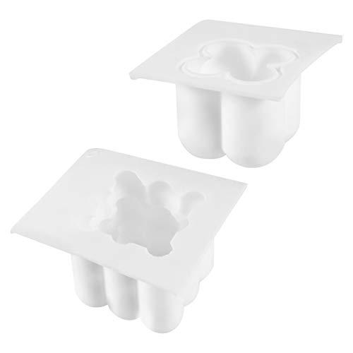 Hemoton 2Pcs Silikon Form Kerzen Formen DIY 3D Silikon Form Handgemachte Kerzen Formen für Kerze Der Kerze Handwerk Dekorationen