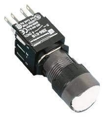 Schneider Electric Harmony XB6, Ø 16mm Drucktaster Weiß, Tastend, NO/NC, 240V, PCB, Quick Connect x 1 Stück